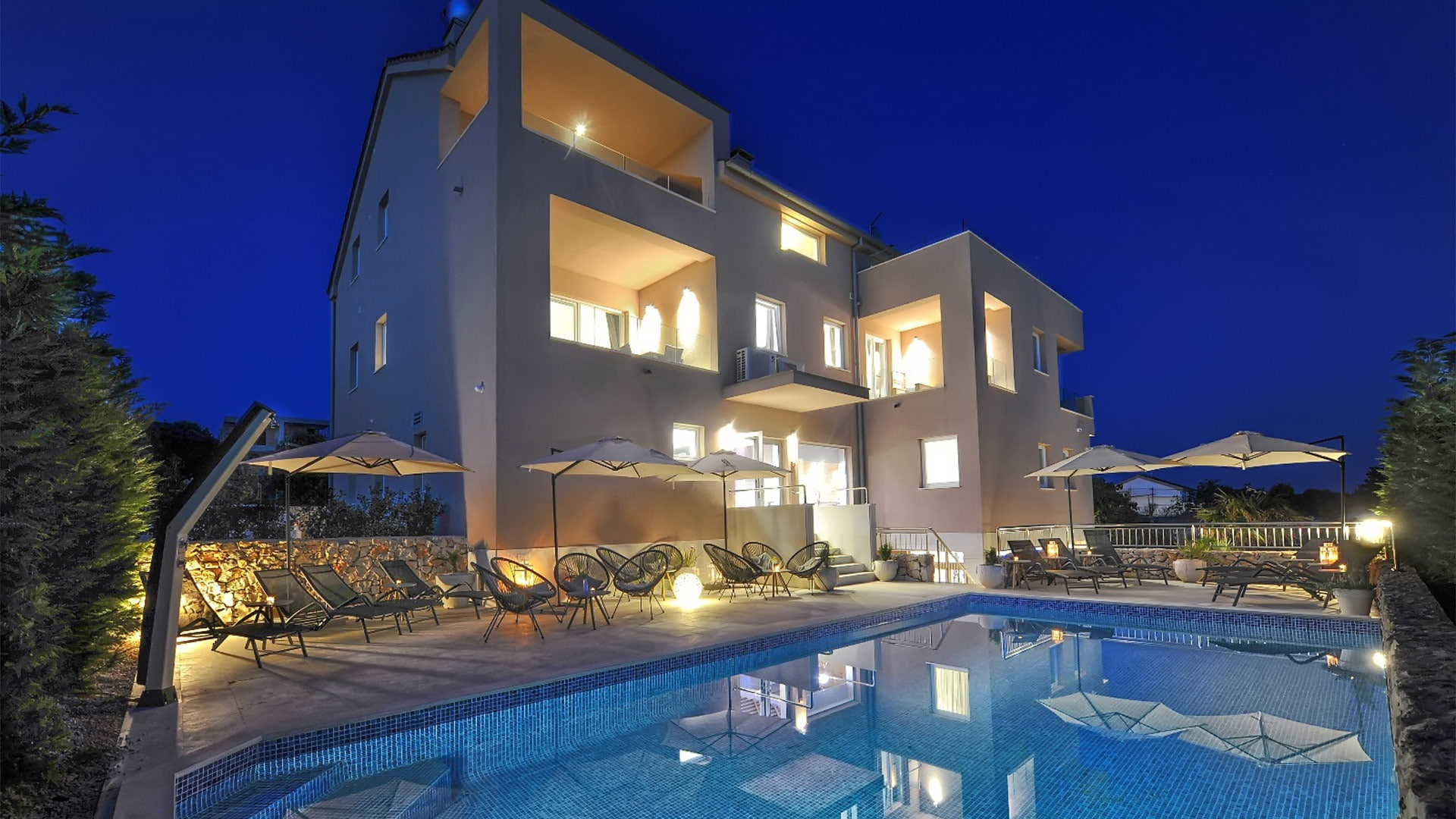 Deluxe Villa No.10 - Mandre, Pag, Croatia | Swiming Pool